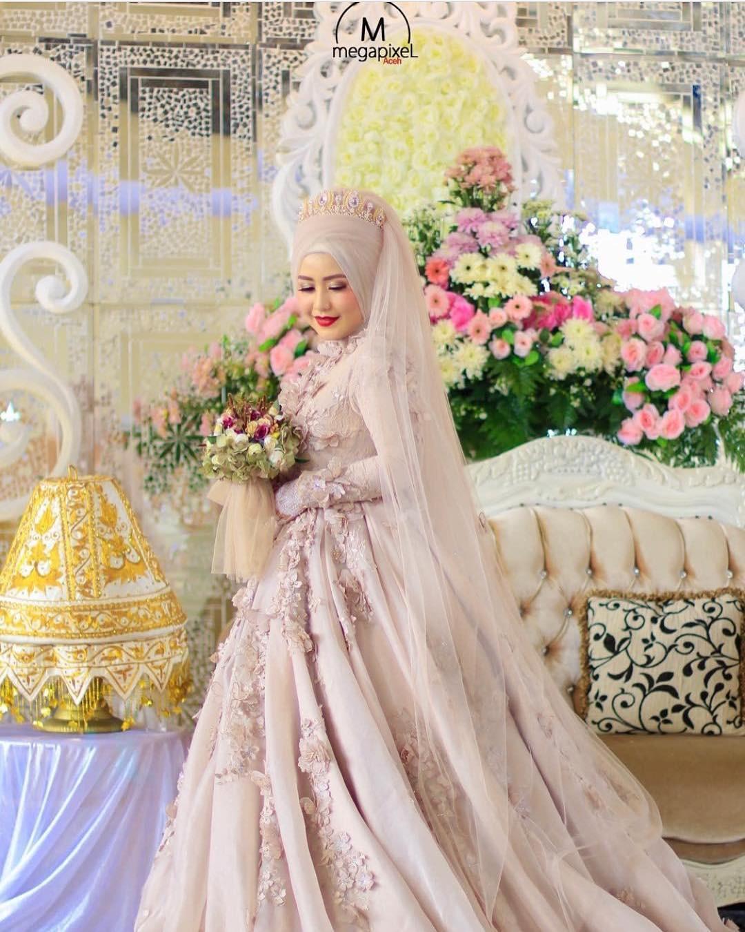 8+ Model Baju Pengantin Muslim Modern,Terbaru